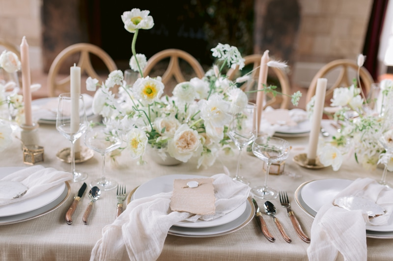 Wedding Officiant in NYC, wedding place setting