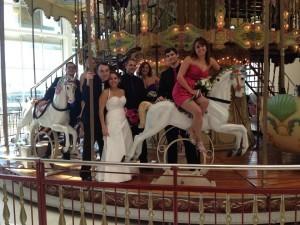 Shopping center wedding